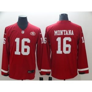 San Francisco 49ers Joe Montana Long Sleeve Jersey